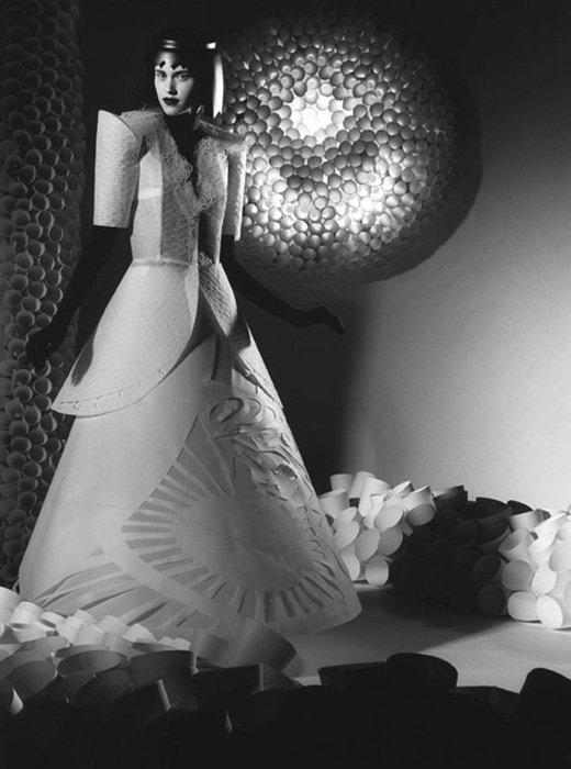 006 jum nakao paper dresses Одежда из бумаги от Jum Nakao