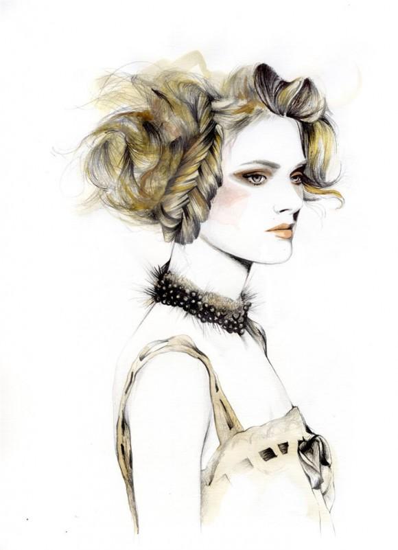 2ae2ea625226 580x801 Модный иллюстратор Caroline Andrieu
