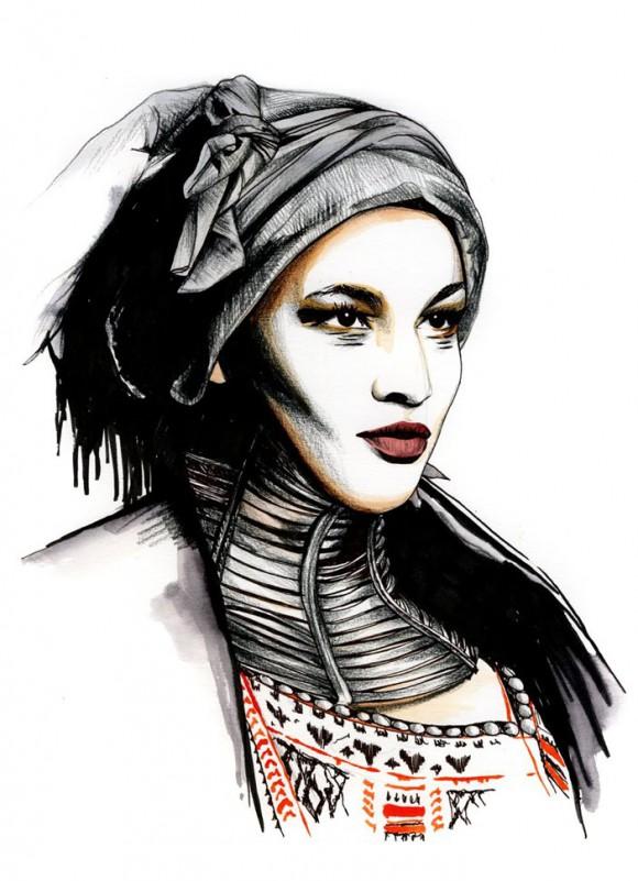 33ed9c813b6e 580x801 Модный иллюстратор Caroline Andrieu
