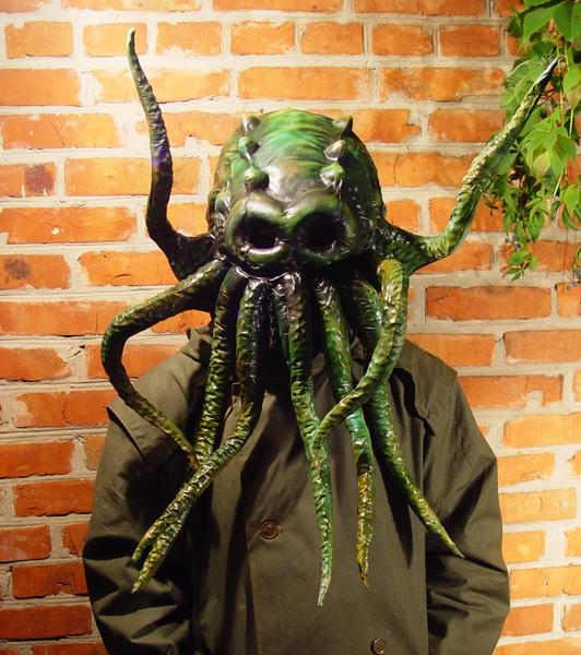 Green Cthulhu 2 Фильтрующий противогаз от Bob Basset на Хеллоуин