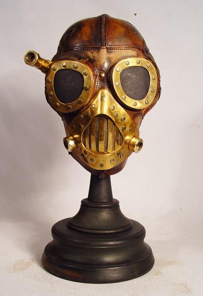 Steampunk leather mask 1 Фильтрующий противогаз от Bob Basset на Хеллоуин