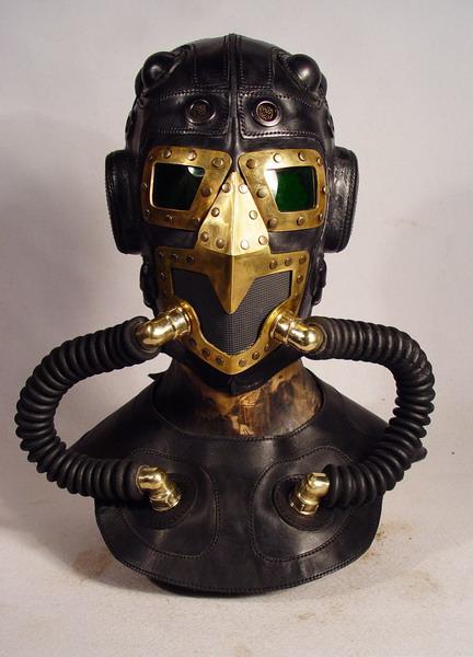 Steampunk leather mask 11 Фильтрующий противогаз от Bob Basset на Хеллоуин