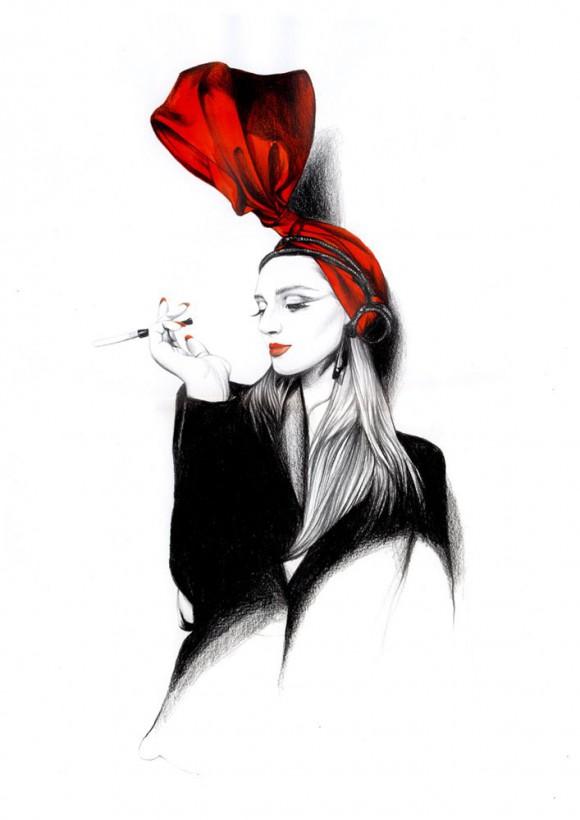 bda607cdb29b 580x820 Модный иллюстратор Caroline Andrieu