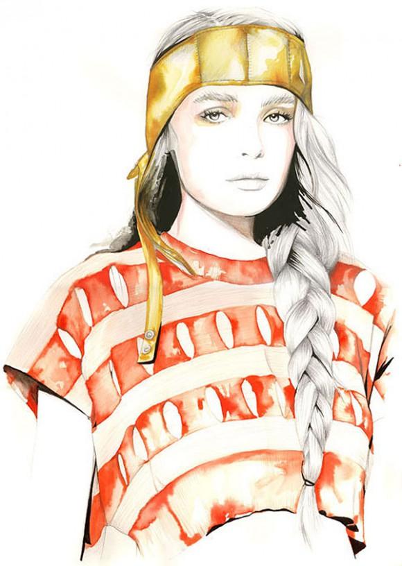 caroline andrieu illustrations 580x816 Модный иллюстратор Caroline Andrieu