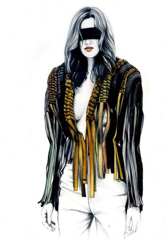 caroline andrieu illustrations 713x1024  580x832 Модный иллюстратор Caroline Andrieu