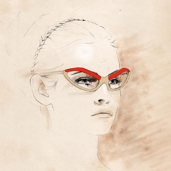 caroline andrieu illustrations 713x1036  580x580 Модный иллюстратор Caroline Andrieu