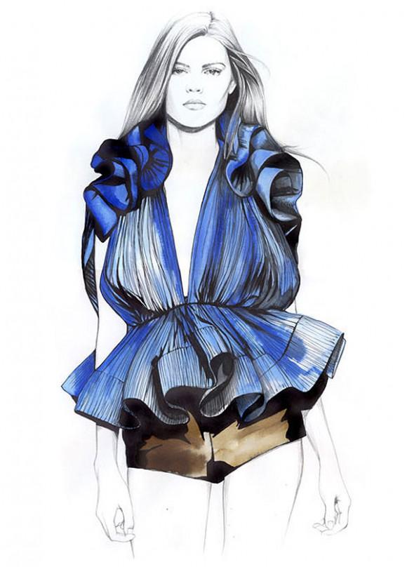 caroline andrieu illustrations3 580x808 Модный иллюстратор Caroline Andrieu