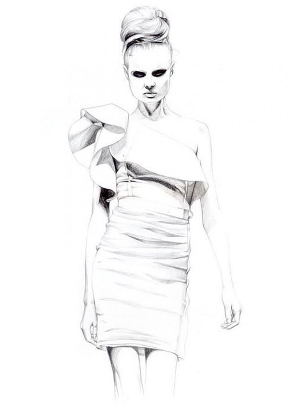 illustration fashion 580x812 Модный иллюстратор Caroline Andrieu