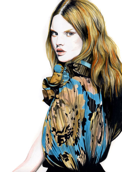 ilustracoes por caroline andrieu 012 Модный иллюстратор Caroline Andrieu